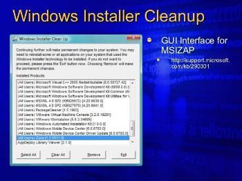 WINDOWS INSTALLER UTILITY 2.5.0.1 CLEANUP TÉLÉCHARGER